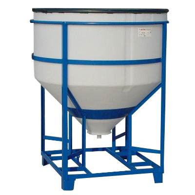 Rezervoare siloz cilindrice pentru pulberi cu suport din otel