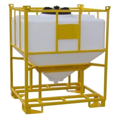 Rezervoare siloz rectangulare pentru lichide cu suport din otel