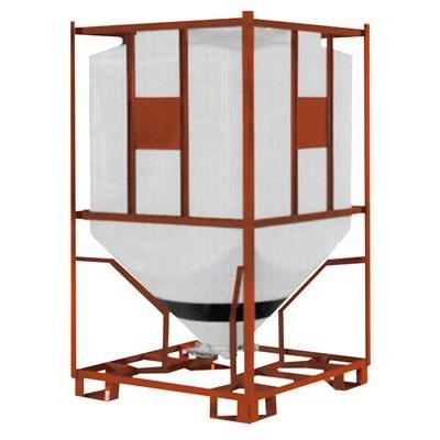 Rezervoare siloz rectangulare pentru pulberi cu suport din otel